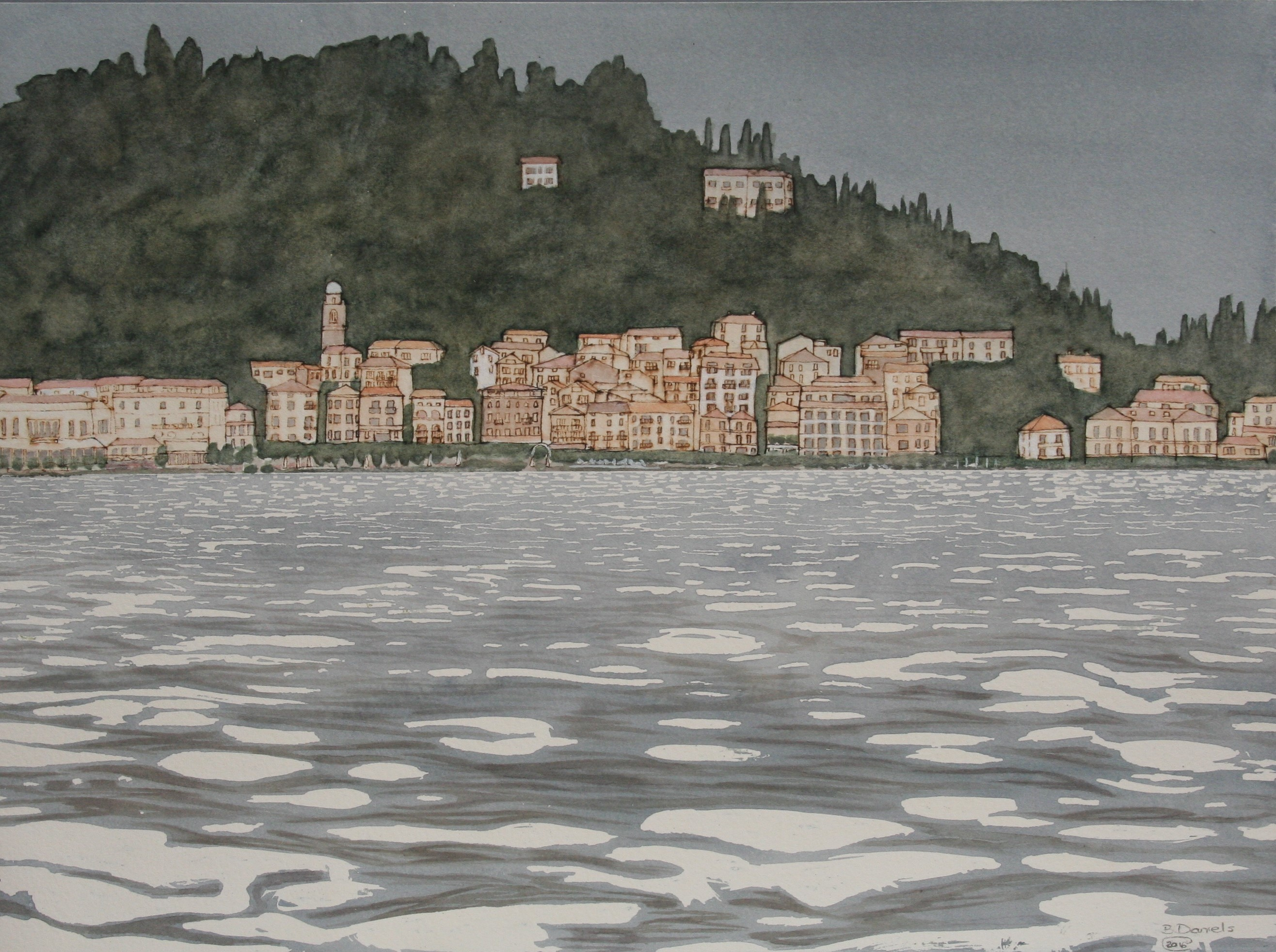 Lake Como 2, view of Bellagio