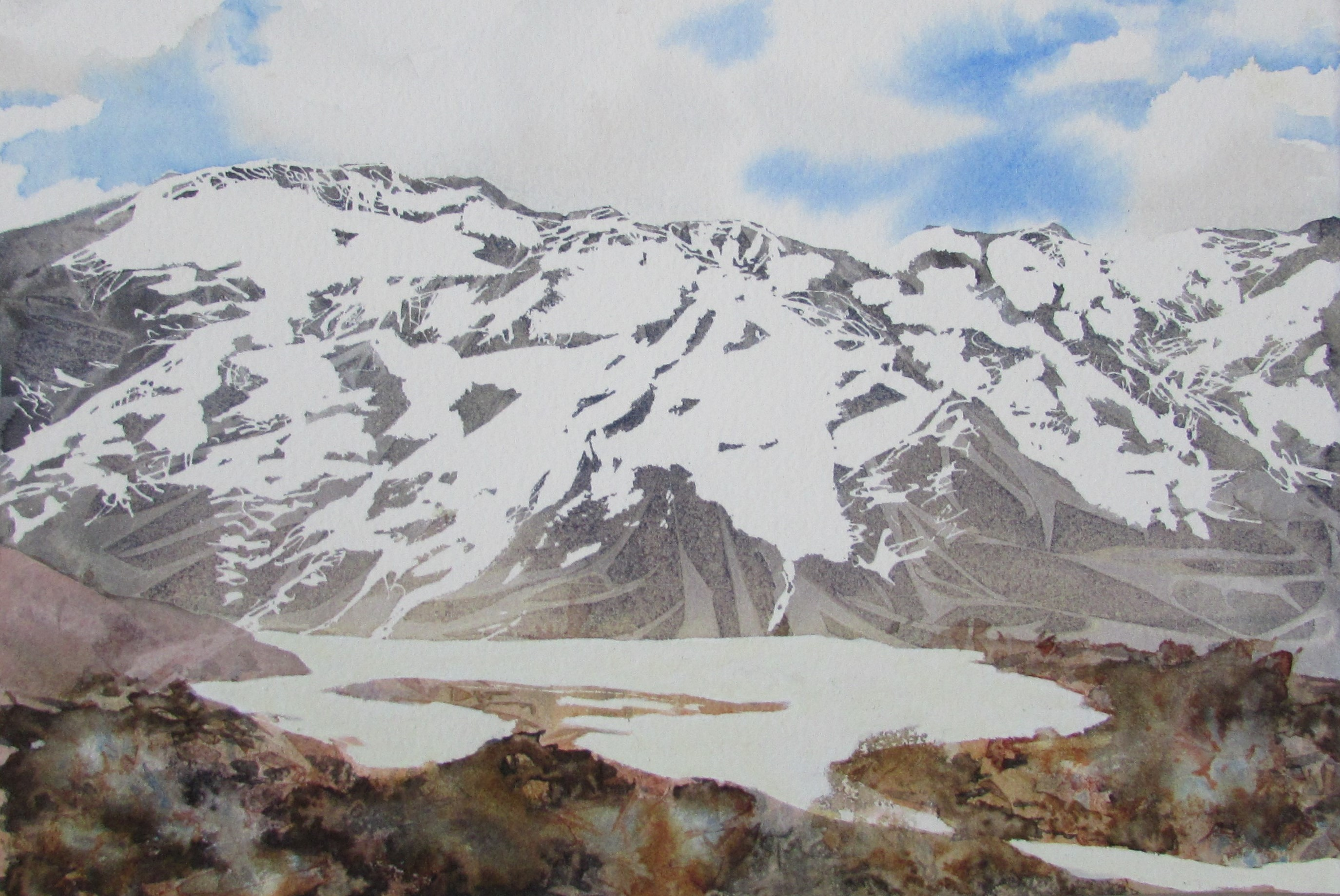 Snow Capped Mountains 1, New Zealand Series